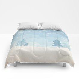 walking in a winter wonderland Comforters