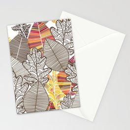 autumn leves Stationery Cards