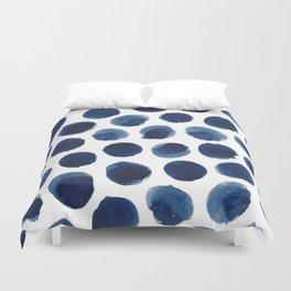 Watercolor polka dots Duvet Cover
