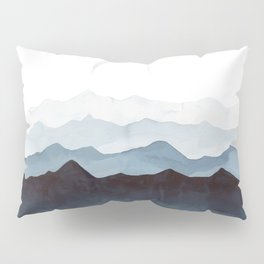 Indigo Mountains Landscape Pillow Sham