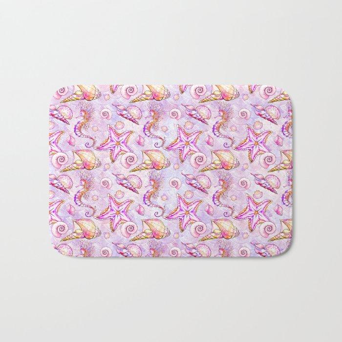 Pink Seahorses #2 Bath Mat