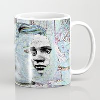 faces Mugs featuring Faces by Ukridge