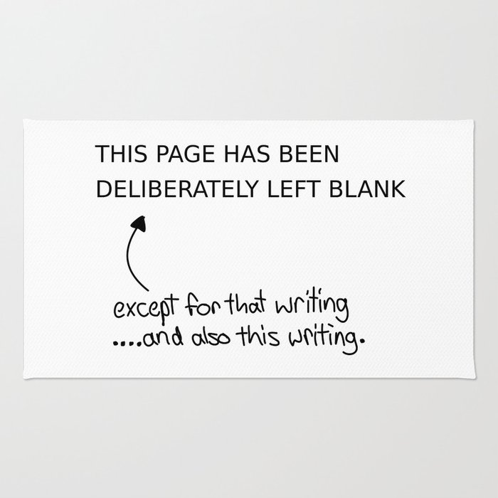 Left blank Rug