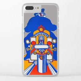 Orange Rider Clear iPhone Case
