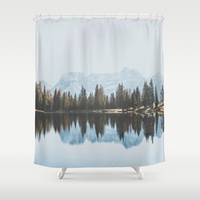 Italian Dolomites Landscape Version Shower Curtain By Lukegramphotos