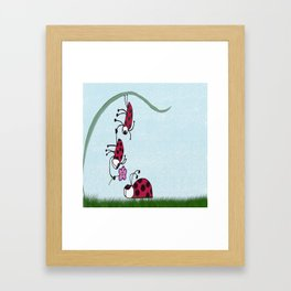 Ladybug Professing His Love Framed Art Print