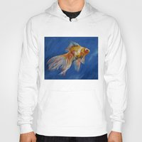 goldfish Hoodies featuring Goldfish by Michael Creese