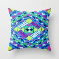 native Throw Pillows featuring Native by Erin Jordan