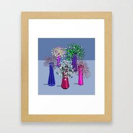 Cascade Flowers Framed Art Print