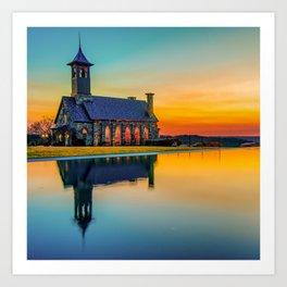 Chapel Reflections - Top of the Rock - Ridgedale Missouri Art Print