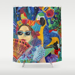 A Guarded Heart Shower Curtain