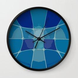 Abstract Blue Lake Water  Wall Clock