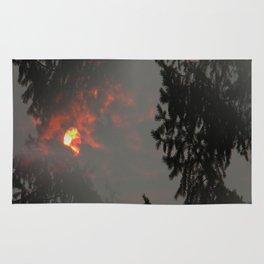 Fiery Smokey Sun.... Rug