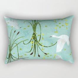 little egrets Rectangular Pillow