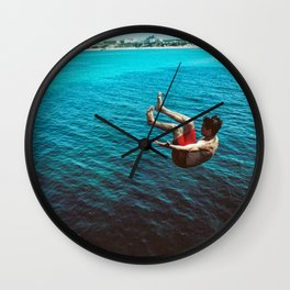 Peniche Cliff Jumper Wall Clock