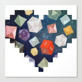 Heart of Dice Canvas Print