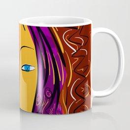 Red Portrait expressionism Coffee Mug
