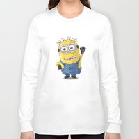 phil jones Long Sleeve T-shirts featuring Minion - Phil by Konstantin Veter
