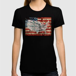 usa map urban city collage T-shirt