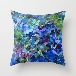 Blue Violet Woods Throw Pillow