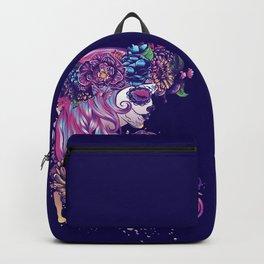 Purple sugar skull Backpack