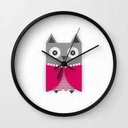 Pretty owl Wall Clock