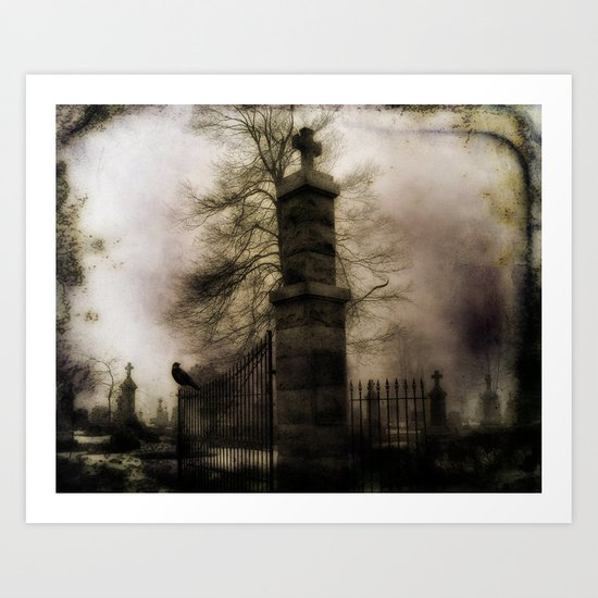 Old Cemetery Gate Art Print