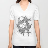 fractal V-neck T-shirts featuring Fractal by Abstract Al