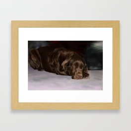 Lab in waiting Framed Art Print