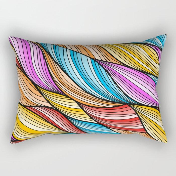 Colorful Fur Rectangular Pillow