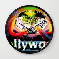 cyberpunk Wall Clocks featuring Bollywood Cyberpunk by BOLLYWOOD