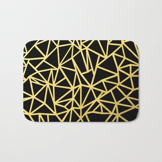 Abstract Outline Thick Gold Bath Mat