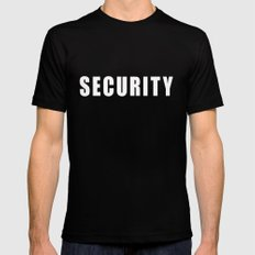 SECURITY TEE SHIRT Mens Fitted Tee Black MEDIUM