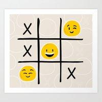 x and o  Art Print