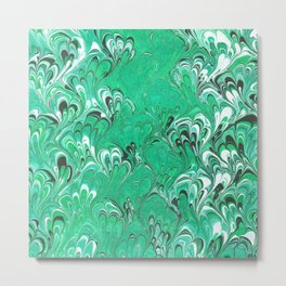 Mint Green Bouquet  Metal Print