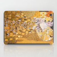 gustav klimt iPad Cases featuring Gustav Klimt - The Woman in Gold by Elegant Chaos Gallery