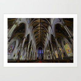 CATHEDRAL OF THE HOLY CROSS, BOSTON MA Art Print