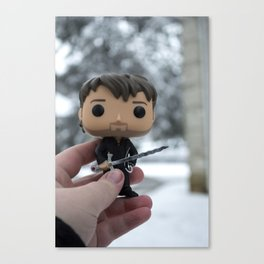 Captain Hook In The Snow Canvas Print