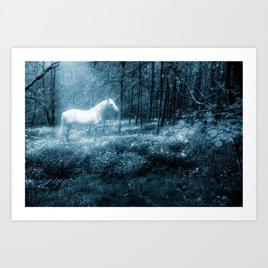 Under a moonlit sky Art Print