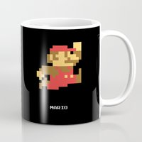 video game Mugs featuring Lab No.4 -Mario Video Game Quotes,Poster by Lab No. 4
