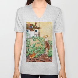 Felicia, A Farmer Whose Chicken Is Told That Her Mother Is A Queen Unisex V-Neck