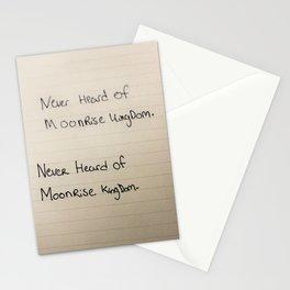 Never Heard of Moonrise Kingdom. Stationery Cards