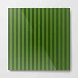 Leaf Green Stripes Pattern Metal Print