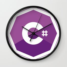 C# logo for csharp developers visual studio Wall Clock