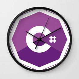 C# logo for csharp developers visual studio Wall Clock