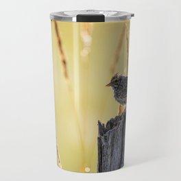 Savannah Sparrow and Sunrise Travel Mug