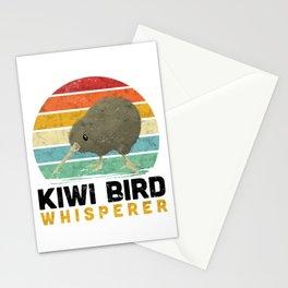 Kiwi Bird Whisperer Ostrich New Zealand saying Stationery Cards