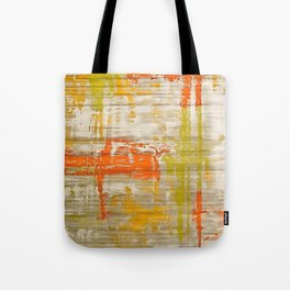 A Splash Of Citrus Grunge Abstract Tote Bag