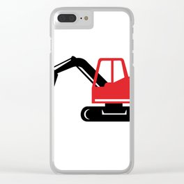 Mechanical Excavator Digger Retro Icon Clear iPhone Case