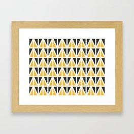 Sunny Triangles Framed Art Print